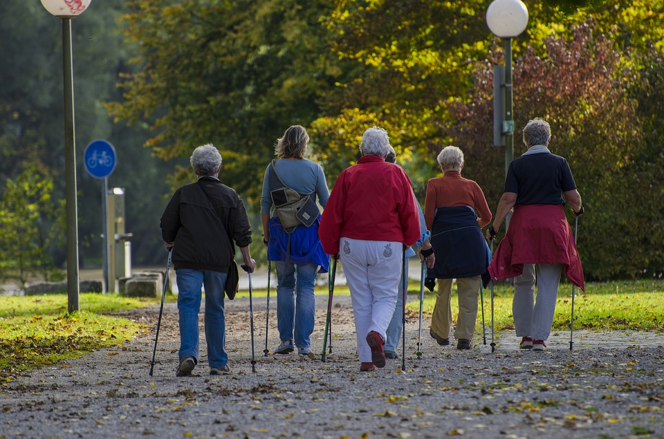 Old people walking